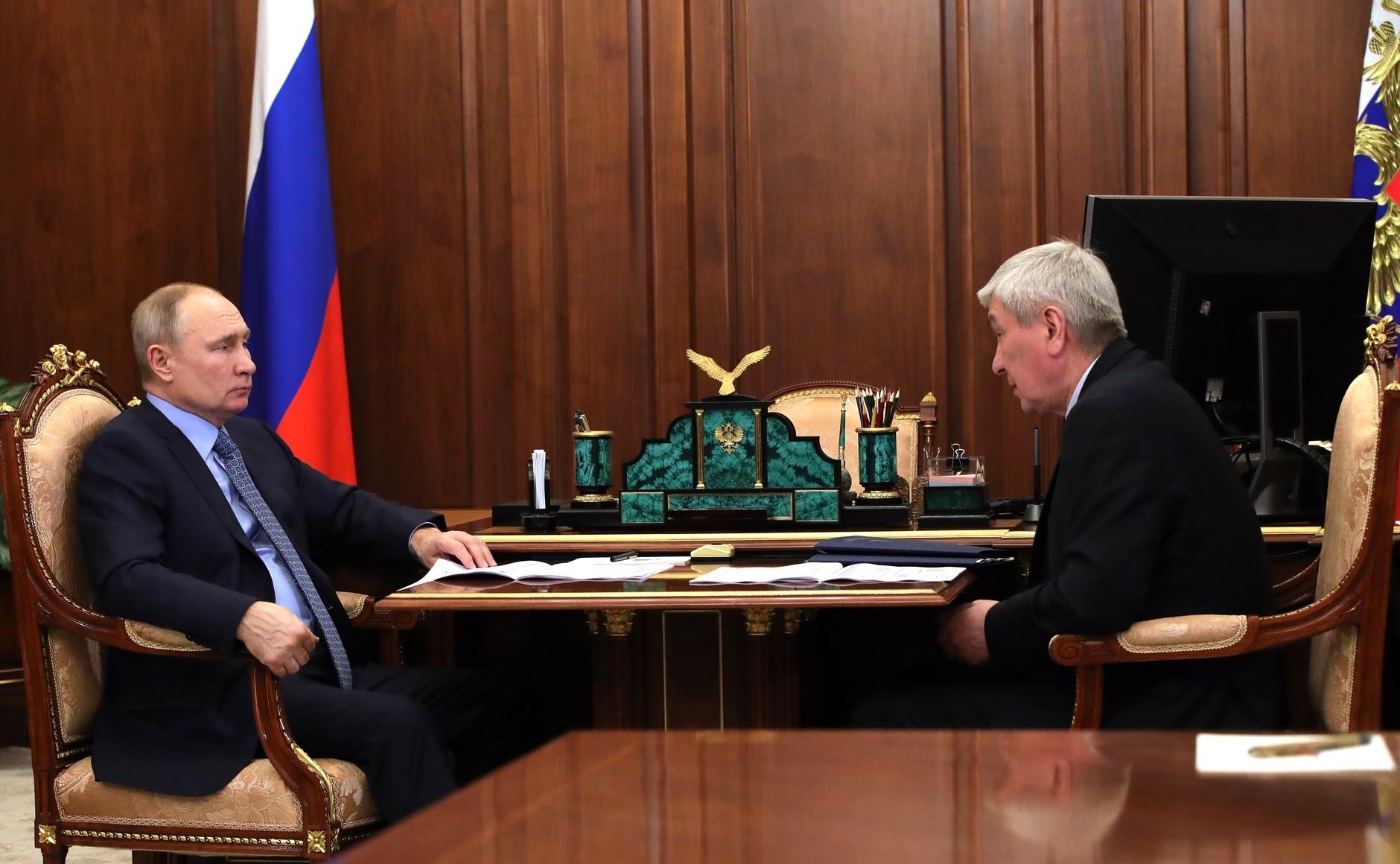 FINANCE SURVEILLEE 1 SUR 3 Rencontre avec le chef du Service fédéral de surveillance financière Yury Chikhanchin 19.02.2021