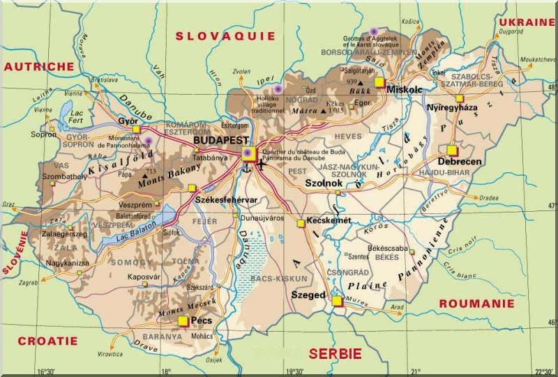 Hongrie-carte 2