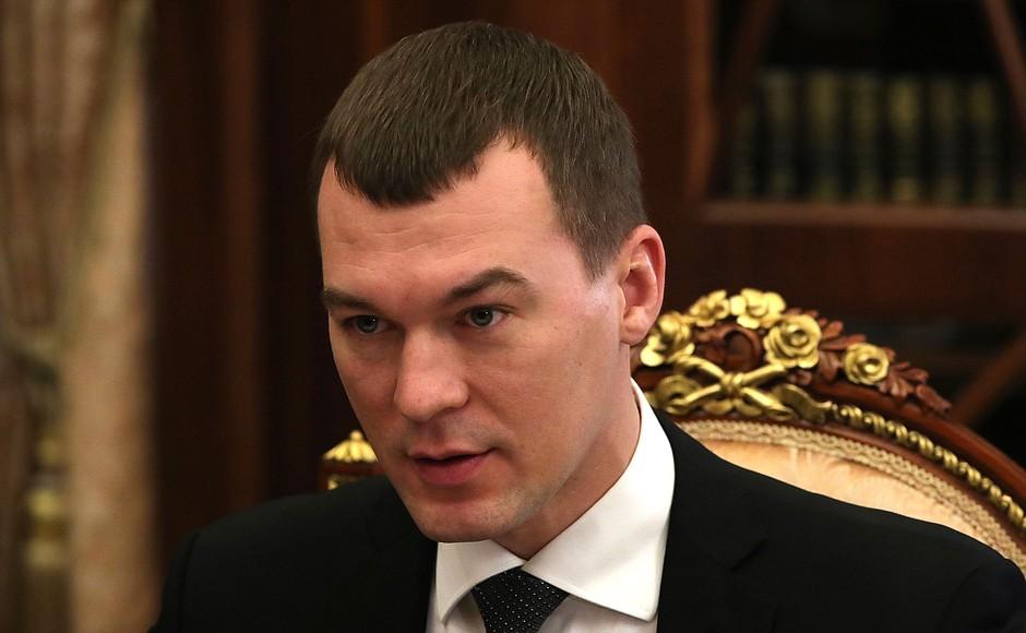 KHARABAROVSK PH 3 XX 3 Rencontre avec le gouverneur par intérim du territoire de Khabarovsk Mikhail Degtyaryov 16.02.2021