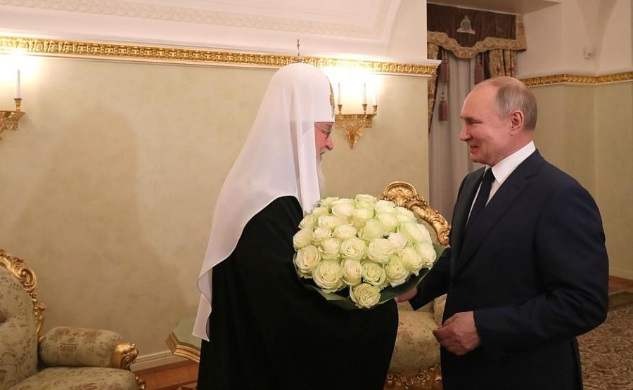 KRELIN 012 KIRILL 1 XX 1 Rencontre avec le patriarche Kirill de Moscou et de toute la Russie 1 février 2021