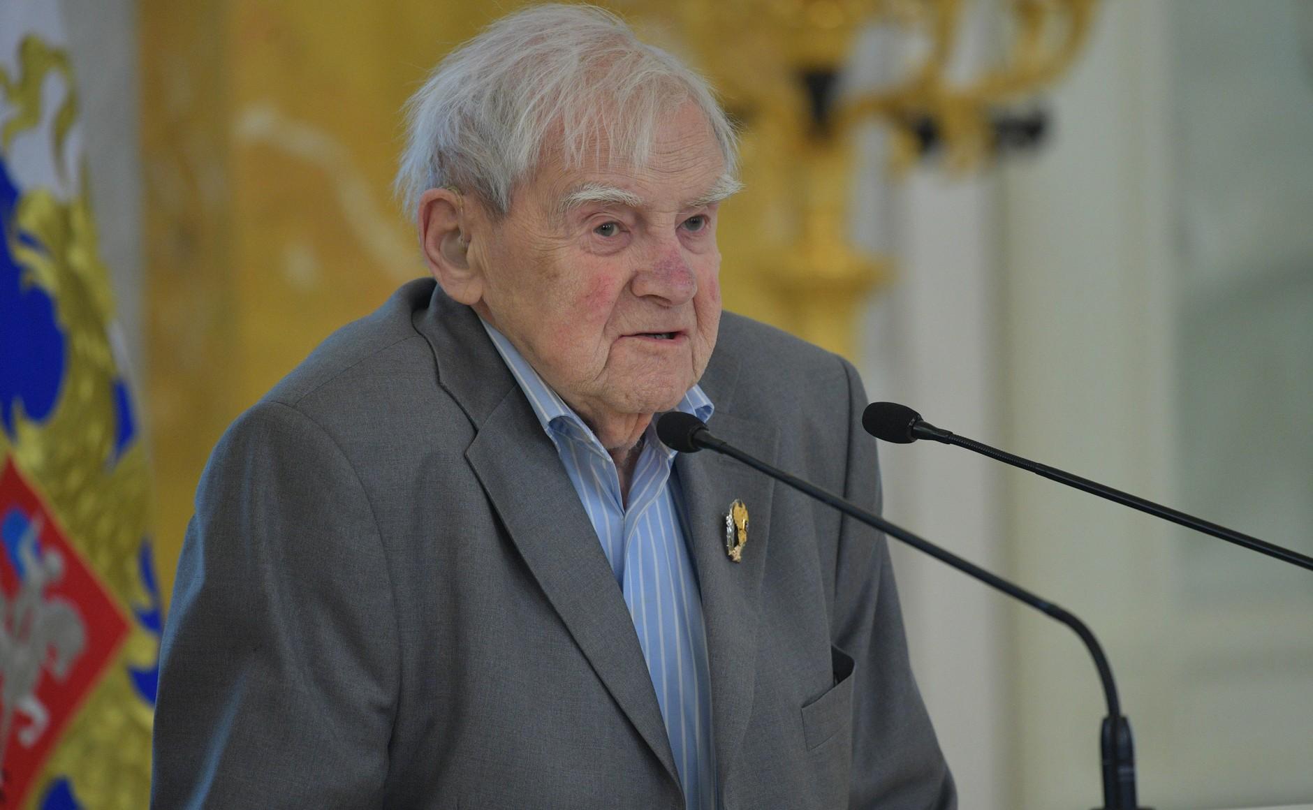 Laureate of the National Award Daniil Granin juin 2017 AU KREMLIN