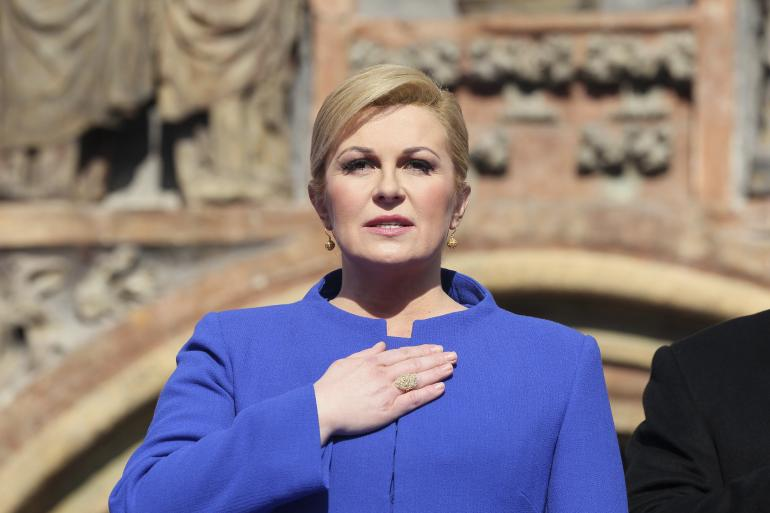 le président croate Kolinda Grabar-Kitarović.