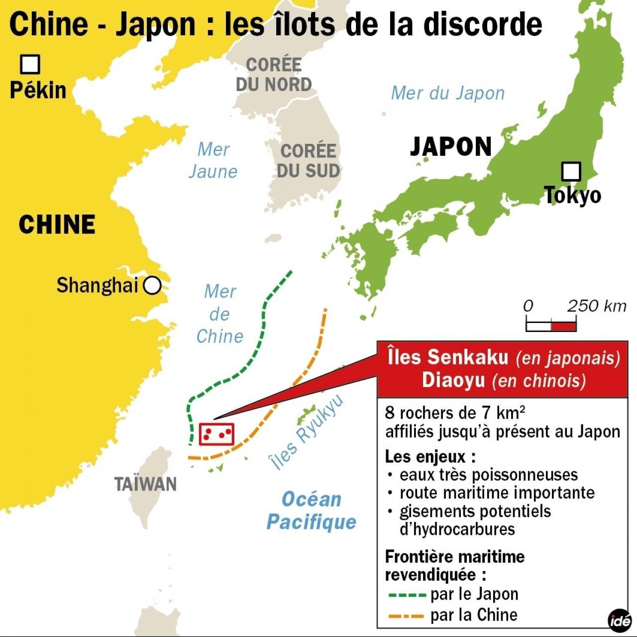 l'île Diaoyu et ses îlots affiliés font partie intégrante du territoire chinois