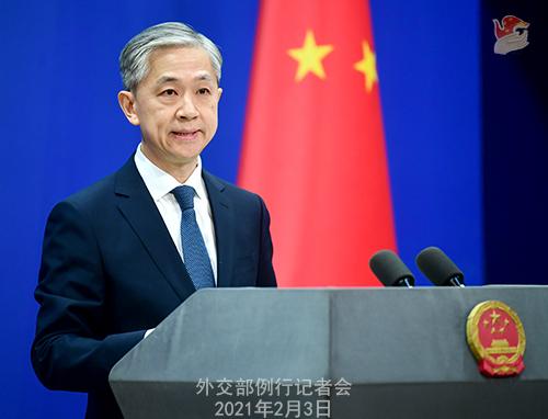 PEKIN 11 Conférence de presse du 3 février 2021 tenue par le porte-parole du Ministère des Affaires étrangères Wang Wenbin