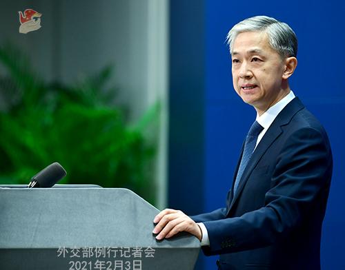 PEKIN 12 Conférence de presse du 3 février 2021 tenue par le porte-parole du Ministère des Affaires étrangères Wang Wenbin