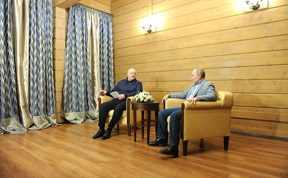 RUSSIE BIELORUSSIE 3 XX 9 Rencontre avec le président de la Biélorussie Alexander Lukashenko 22.02.2021