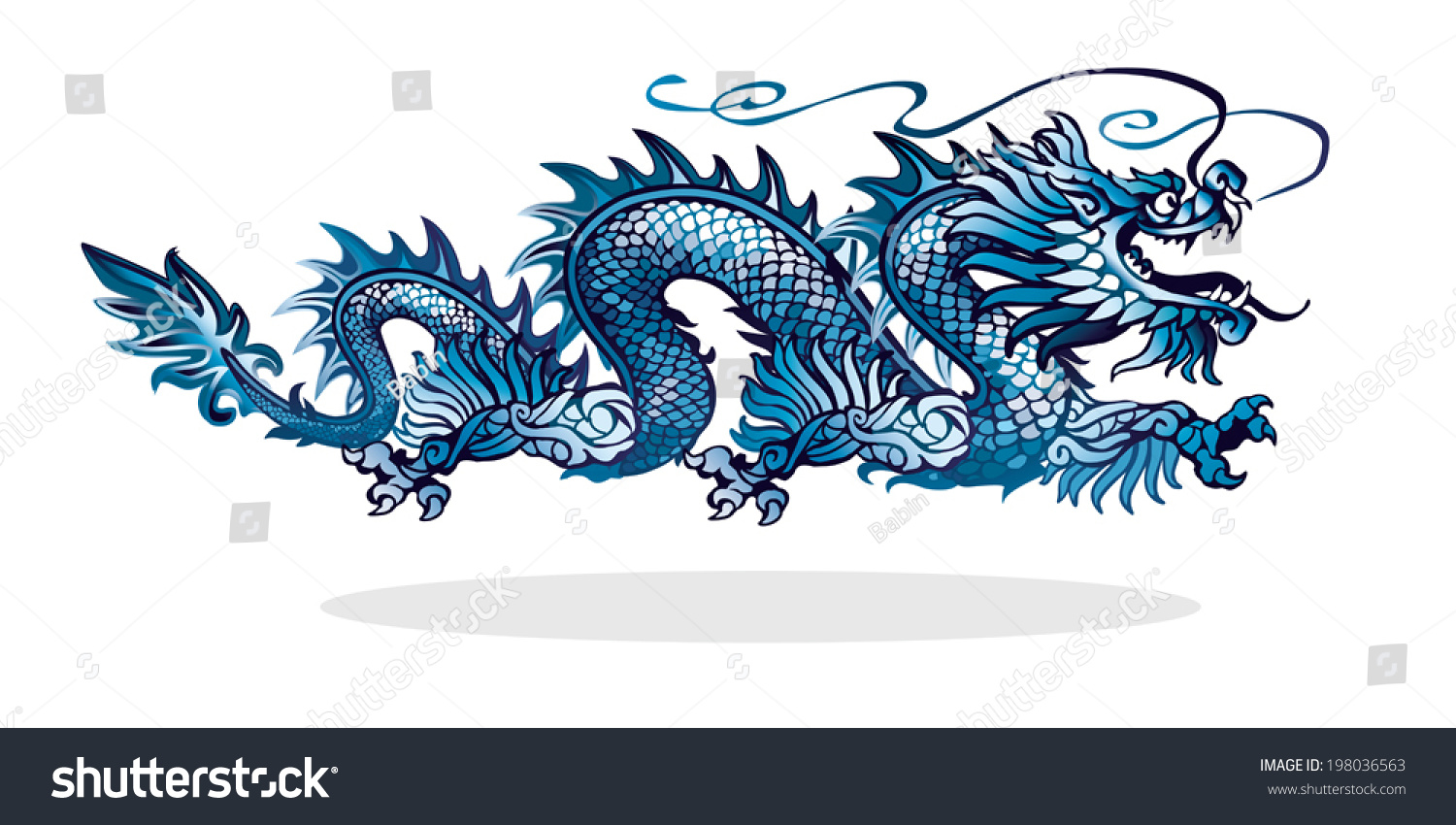 stock-vector-blue-chinese-dragon-on-white-background-198036563