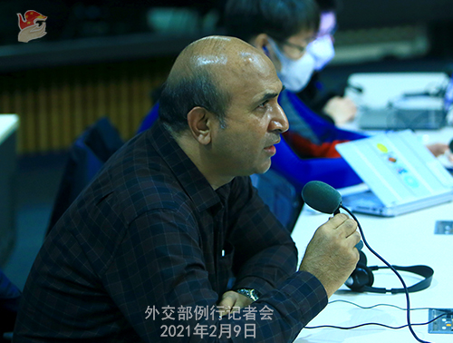 W.WENBIN PH 2 Conférence de presse du 9 février 2021 tenue par le porte-parole du Ministère des Affaires étrangères Wang Wenbin
