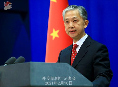 W.WENBIN PH 5 Conférence de presse du 10 février 2021 tenue par le porte-parole du Ministère des Affaires étrangères Wang Wenbin
