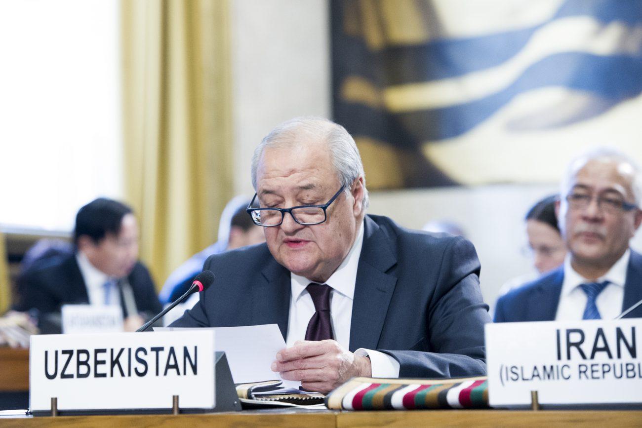 Abdulaziz Kamilov, Ministre des Affaires étrangères de l'Ouzbékistan