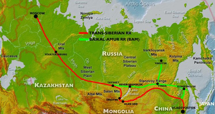 BAM [Baikal-Amur Mainline] et du Transsib [Transsibérien Railway]