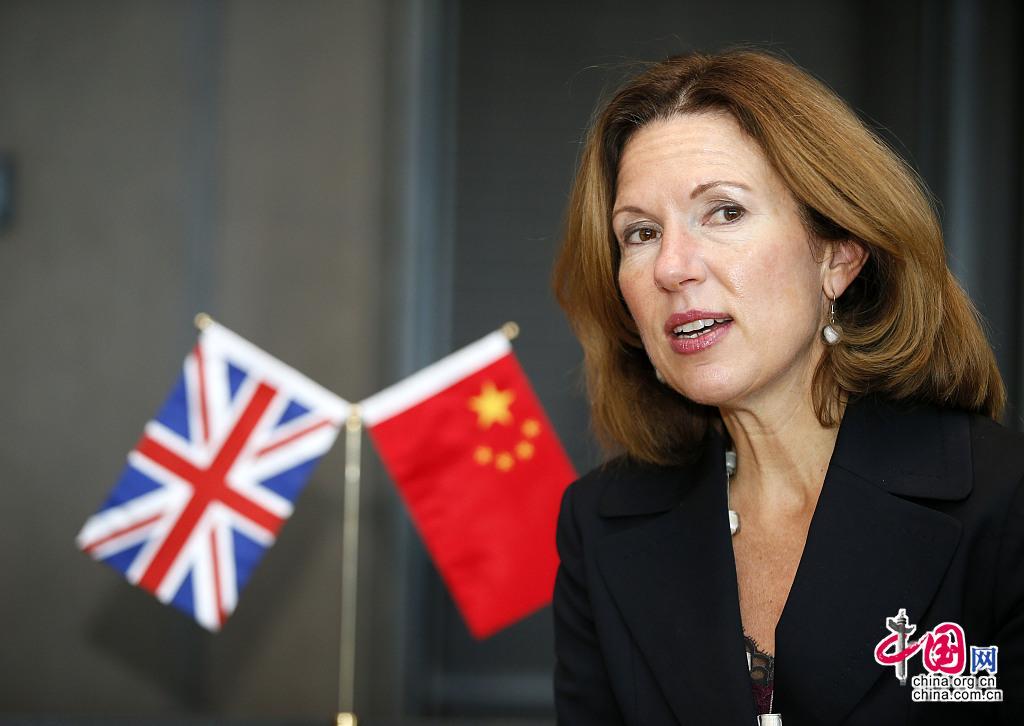 Caroline Wilson, l'ambassadrice du Royaume-Uni en Chine (Photo VCG)