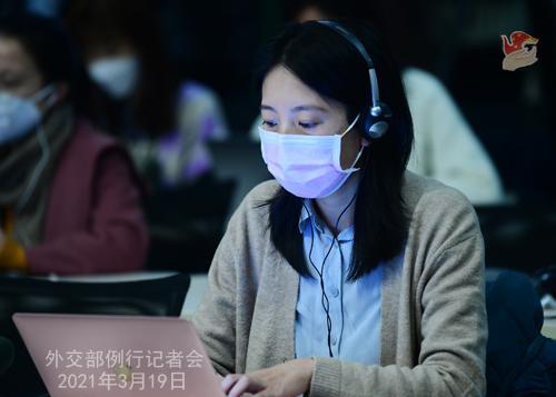 CH - ZHAO PH 24 Conférence de presse du 19 mars 2021 tenue par le porte-parole du Ministère des Affaires étrangères Zhao Lijian