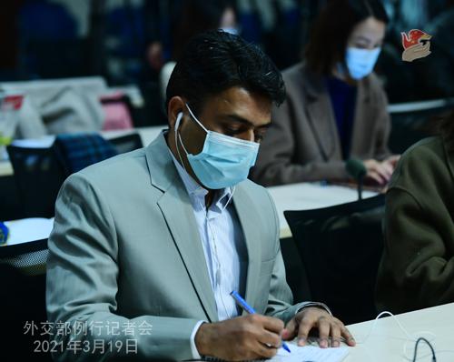CH - ZHAO PH 25 Conférence de presse du 19 mars 2021 tenue par le porte-parole du Ministère des Affaires étrangères Zhao Lijian
