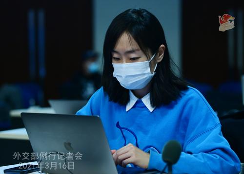 CH - ZHAO PH 5 Conférence de presse du 16 mars 2021 tenue par le porte-parole du Ministère des Affaires étrangères Zhao Lijian