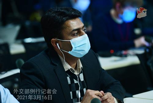 CH - ZHAO PH 6 Conférence de presse du 16 mars 2021 tenue par le porte-parole du Ministère des Affaires étrangères Zhao Lijian