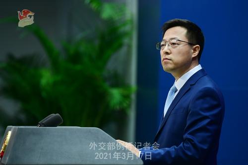 CH - ZHAO PH 7 Conférence de presse du 17 mars 2021 tenue par le porte-parole du Ministère des Affaires étrangères Zhao Lijian