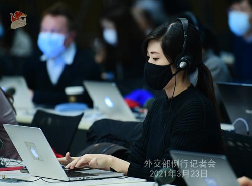 CHINE HUA PH 11 Conférence de presse du 23 mars 2021 tenue par la porte-parole du Ministère des Affaires étrangères Hua Chunying
