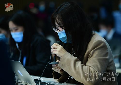 CHINE HUA PH 15 Conférence de presse du 24 mars 2021 tenue par la porte-parole du Ministère des Affaires étrangères Hua Chunying