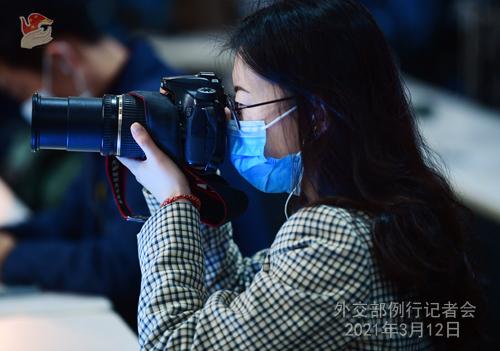 Conférence de presse du 12 mars 2021 PH 9 tenue par le porte-parole du Ministère des Affaires étrangères Zhao Lijian