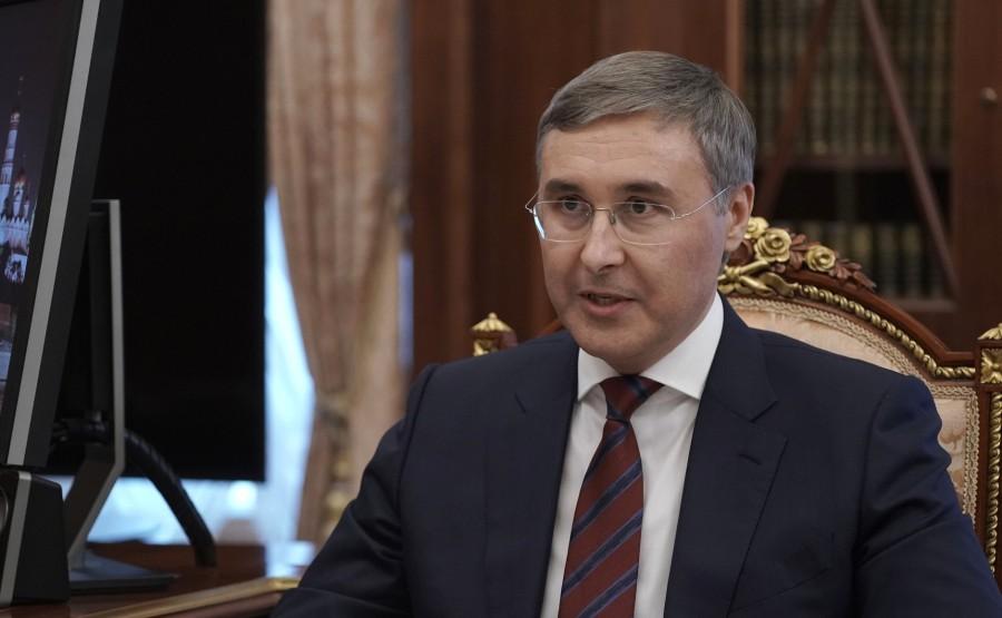 FALKOV RU 2 XX 5 Rencontre avec le ministre des Sciences et de l'Enseignement supérieur Valery Falkov 9 mars 2021