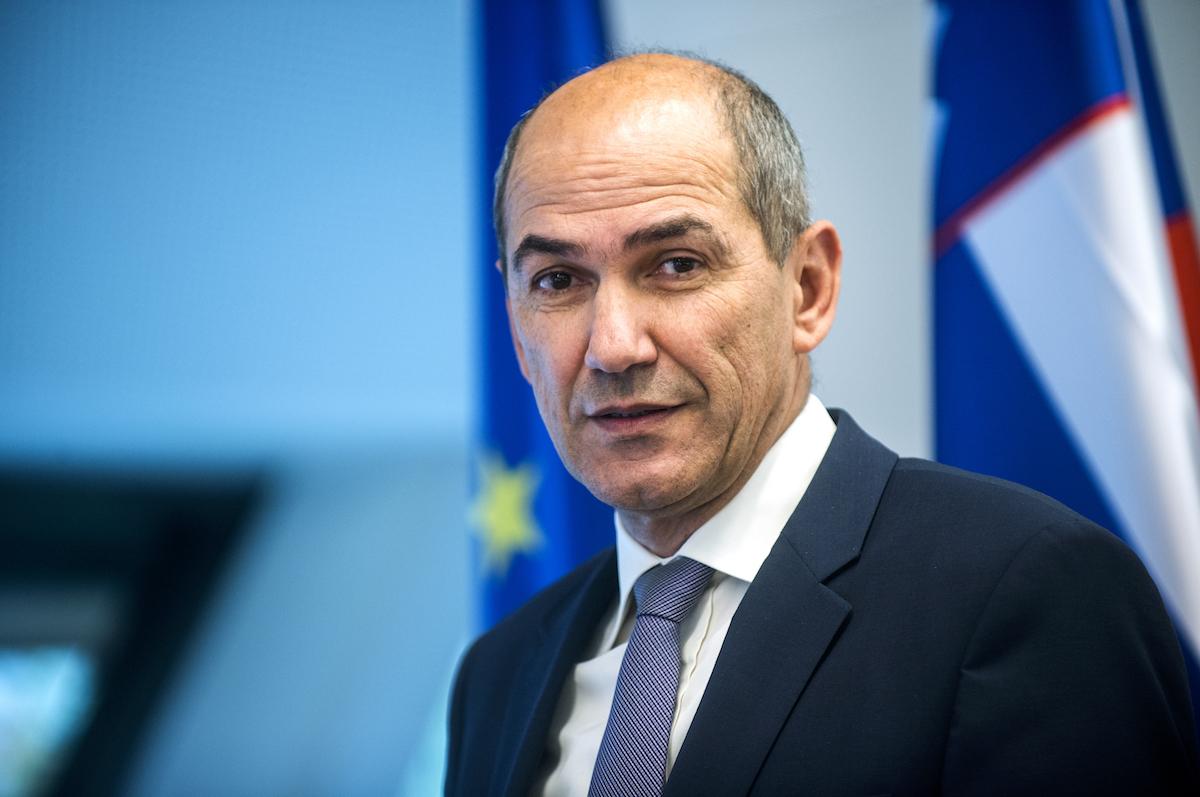 Janez-Jansa Premier ministre de la République de Slovénie, M. Janez Janša,