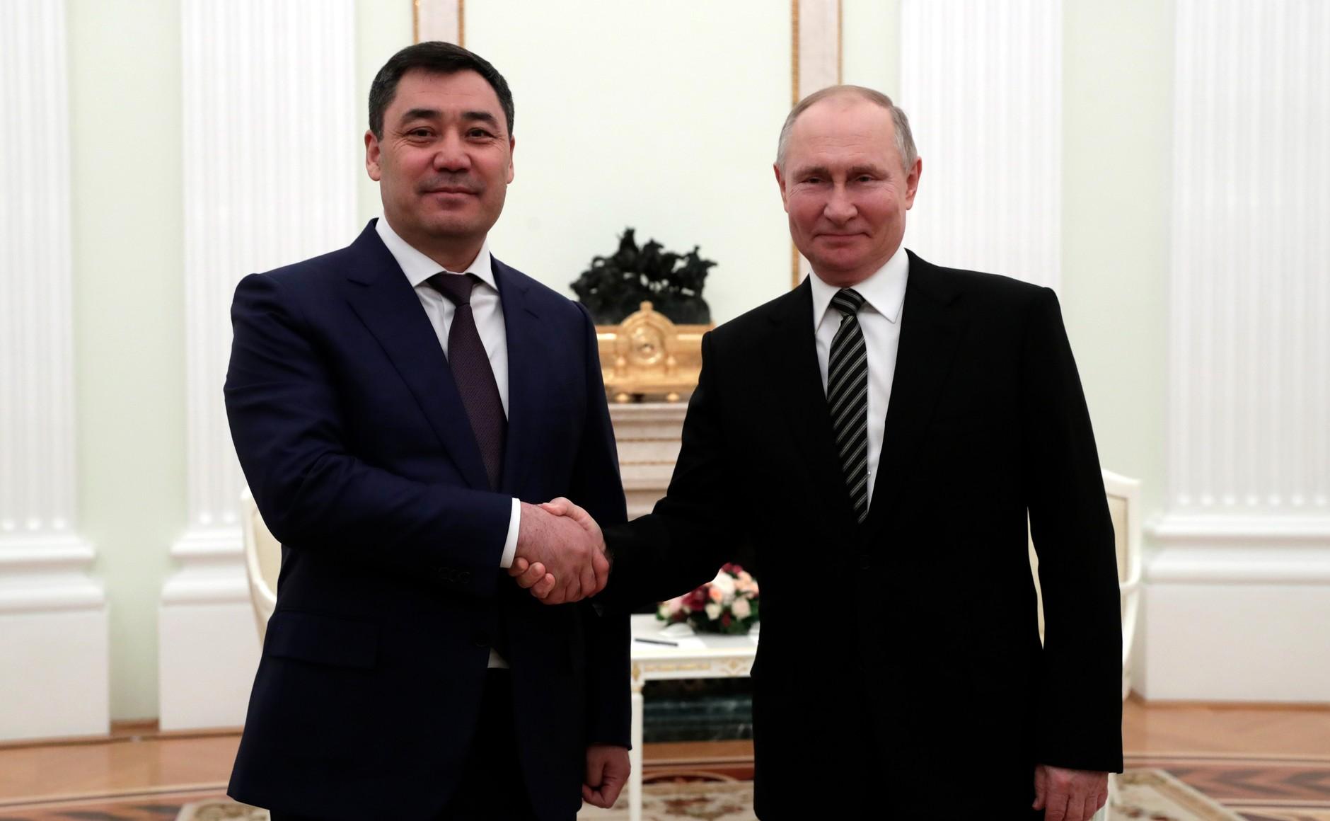 KIRGHISTAN 2 XX 5 Rencontre avec le président du Kirghizistan Sadyr Japarov 24 février 2021