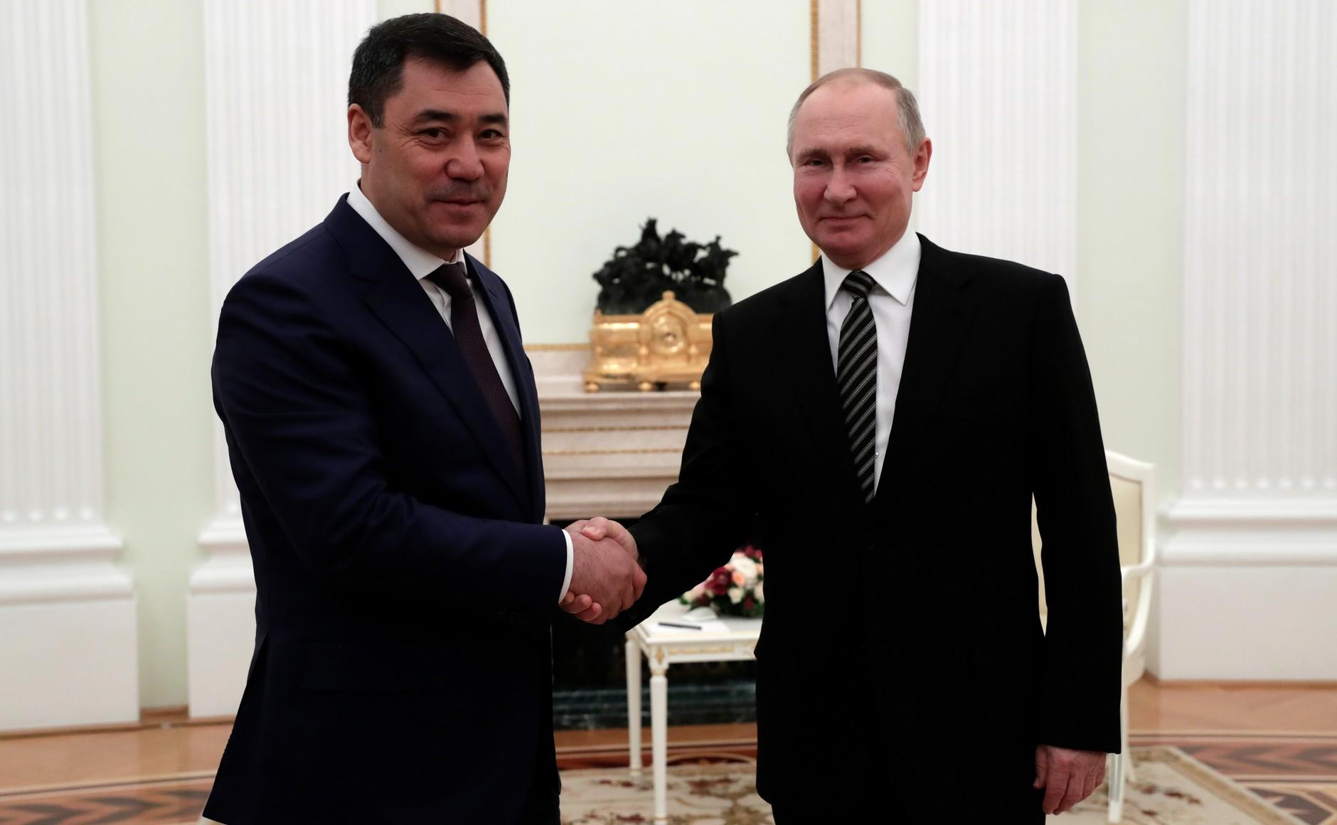 KIRGHISTAN 3 XX 5 Rencontre avec le président du Kirghizistan Sadyr Japarov 24 février 2021