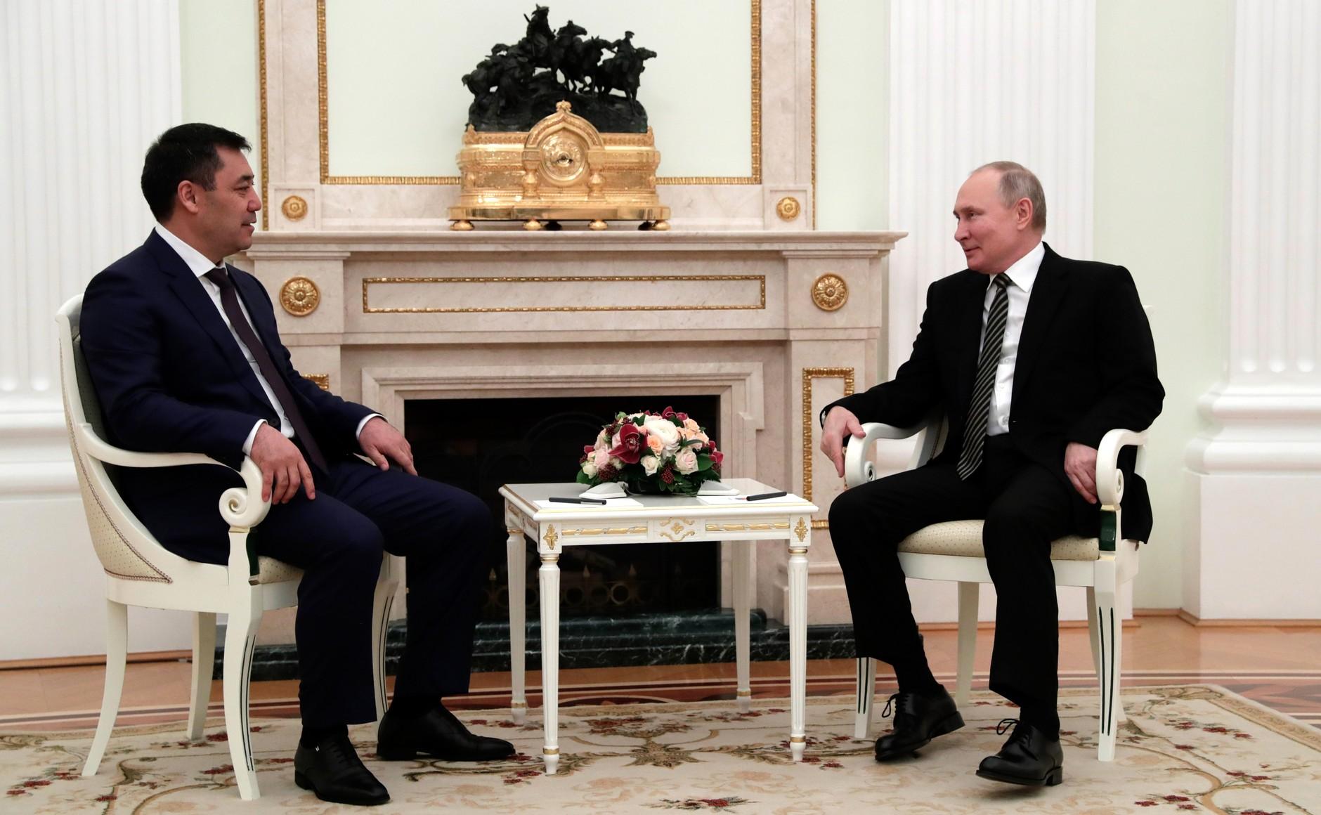 KIRGHISTAN 4 XX 5 Rencontre avec le président du Kirghizistan Sadyr Japarov 24 février 2021
