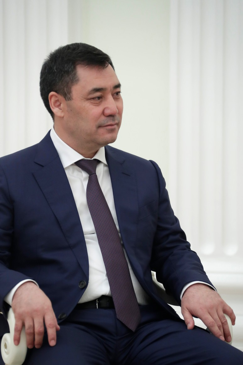 KIRGHISTAN 5 XX 5 Rencontre avec le président du Kirghizistan Sadyr Japarov 24 février 2021