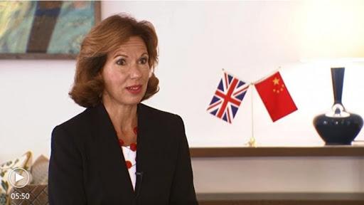 La nouvelle ambassadrice britannique en Chine Caroline Wilson