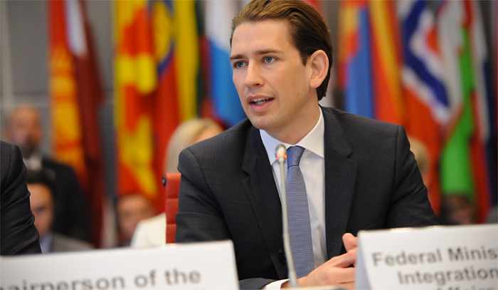 le chancelier fédéral autrichien Sebastian Kurz