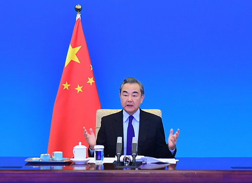 le Conseiller d'État et Ministre des Affaires étrangères Wang Yi