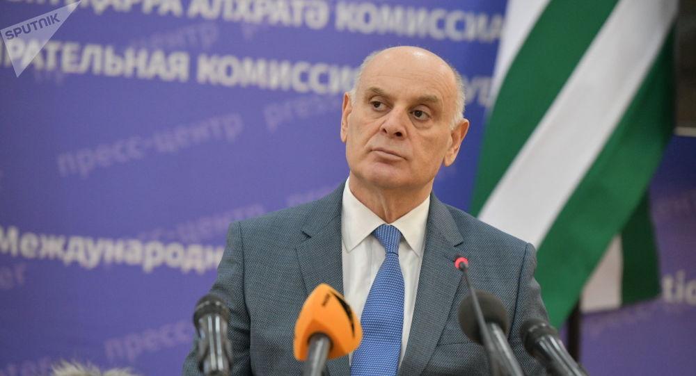 le Président abkhaz Aslan Bjania