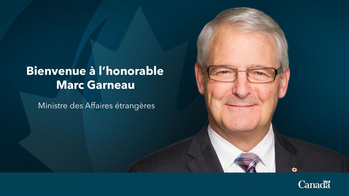 Marc Garneau, Ministre des Affaires étrangères du Canada