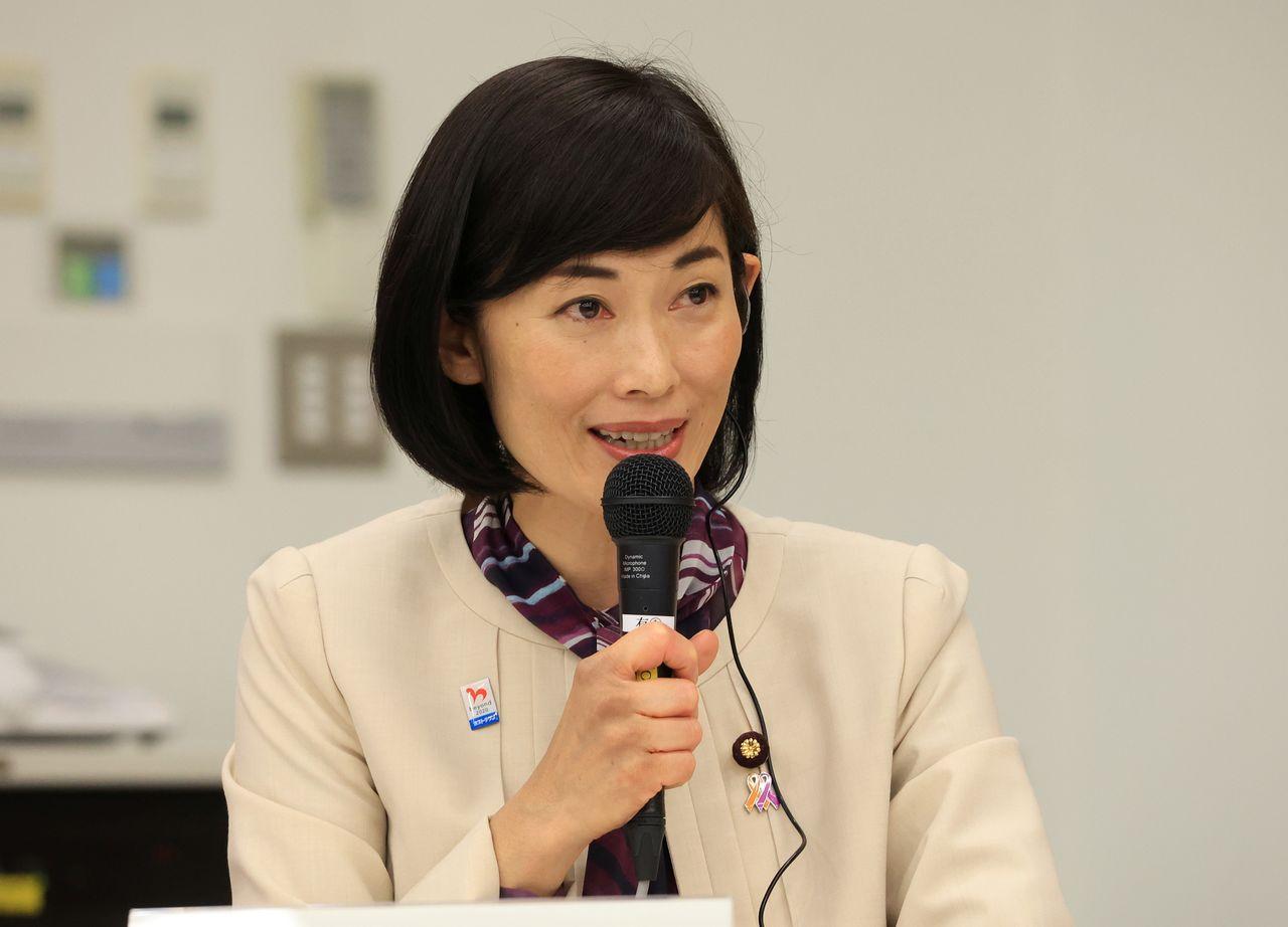 Marukawa Tamayo, ministre en charge des Jeux olympiques et paralympiques (Yoshikazu Tsuno Pool via REUTERS)