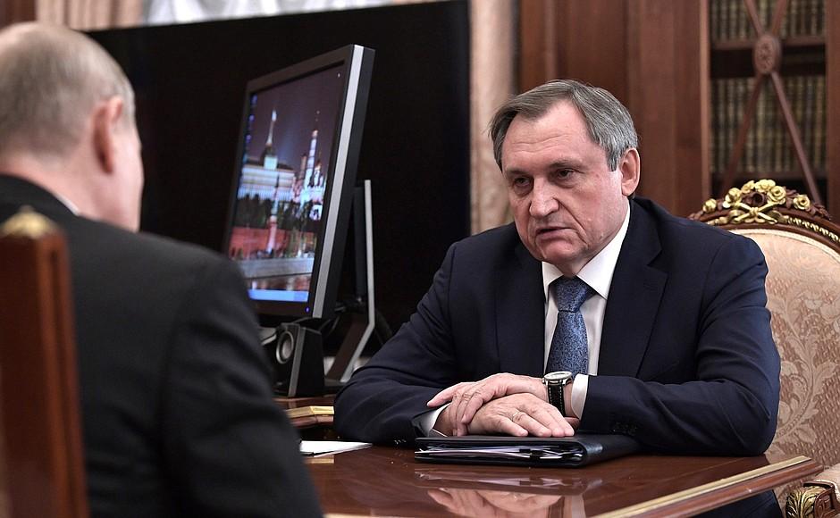 Meeting with Head of RusHydro Nikolai Shulgino