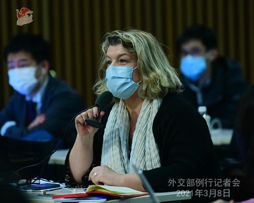 PEKIN PH 10 XX Conférence de presse du 8 mars 2021 tenue par le porte-parole du Ministère des Affaires étrangères Zhao Lijian
