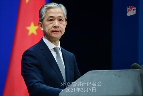 PEKIN PH 4 XX Conférence de presse du 5 mars 2021 tenue par le porte-parole du Ministère des Affaires étrangères Wang Wenbin