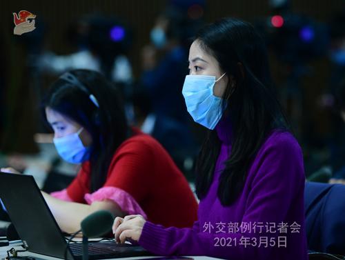 PEKIN PH 6 XX Conférence de presse du 5 mars 2021 tenue par le porte-parole du Ministère des Affaires étrangères Wang Wenbin