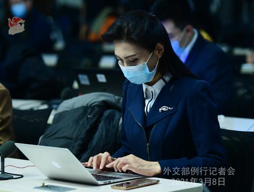 PEKIN PH 9 XX Conférence de presse du 8 mars 2021 tenue par le porte-parole du Ministère des Affaires étrangères Zhao Lijian