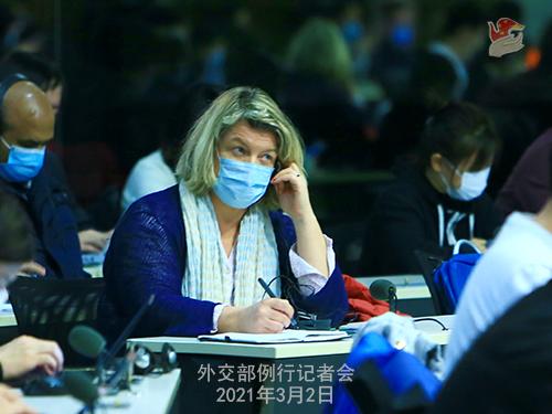 PHOTO 8 presse du 2 mars 2021 tenue par le porte-parole du Ministère des Affaires étrangères Wang Wenbin