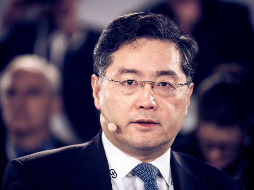 Qin Gang (Vice Minister of Foreign Affairs, People's Republic of China) at the Townhall on the Coronavirus Outbreak