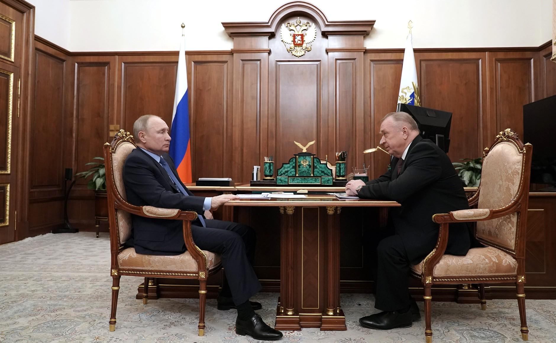 RU COMMERCE 1 KK 2 Rencontre avec le chef de la Chambre de commerce et d'industrie Sergei Katyrin 25 février 2021