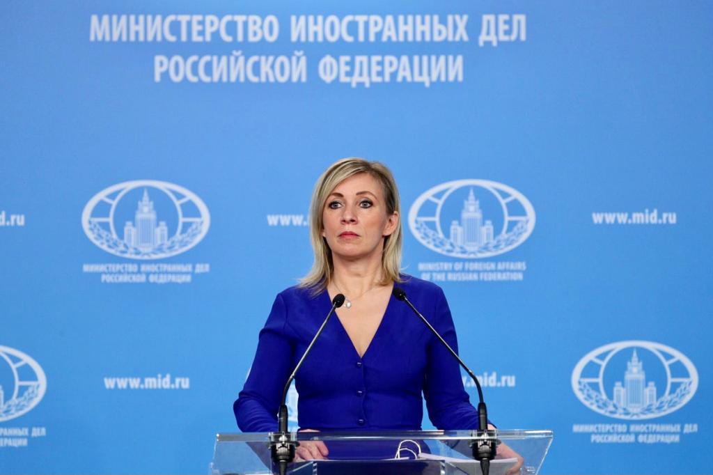 RUSSIE Maria Zakharova, porte-parole du Ministère des Affaires étrangères de la Fédération de Russie, Moscou, 26 février 2021