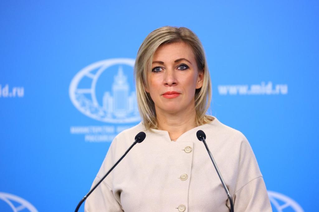 RUSSIE Maria Zakharova, porte-parole du Ministère des Affaires étrangères de la Fédération de Russie, Moscou, 4 MARS 2021 jpeg