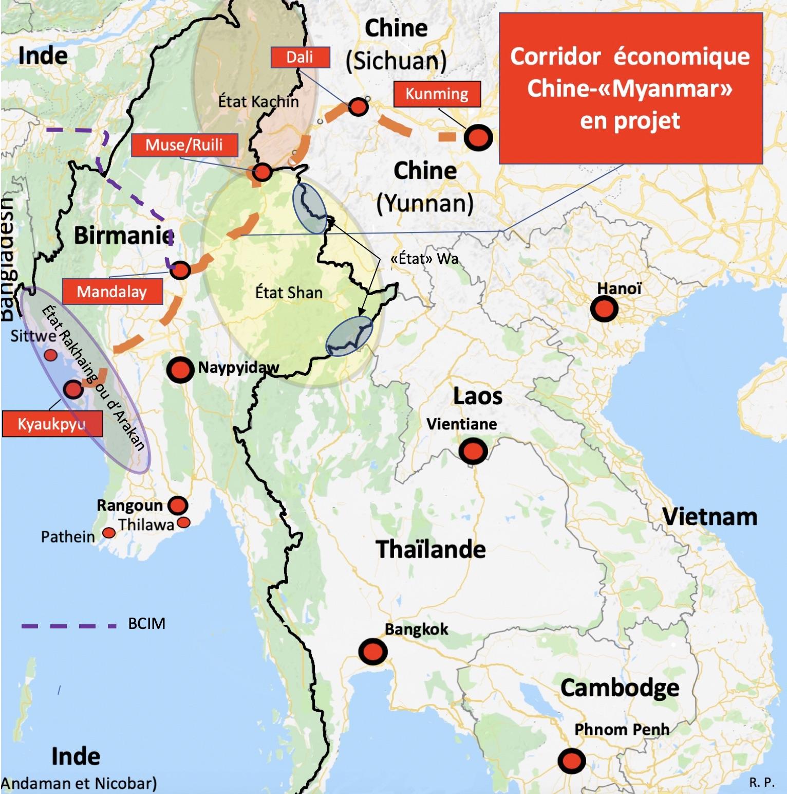Birmanie-corridor-et-États-dissidents