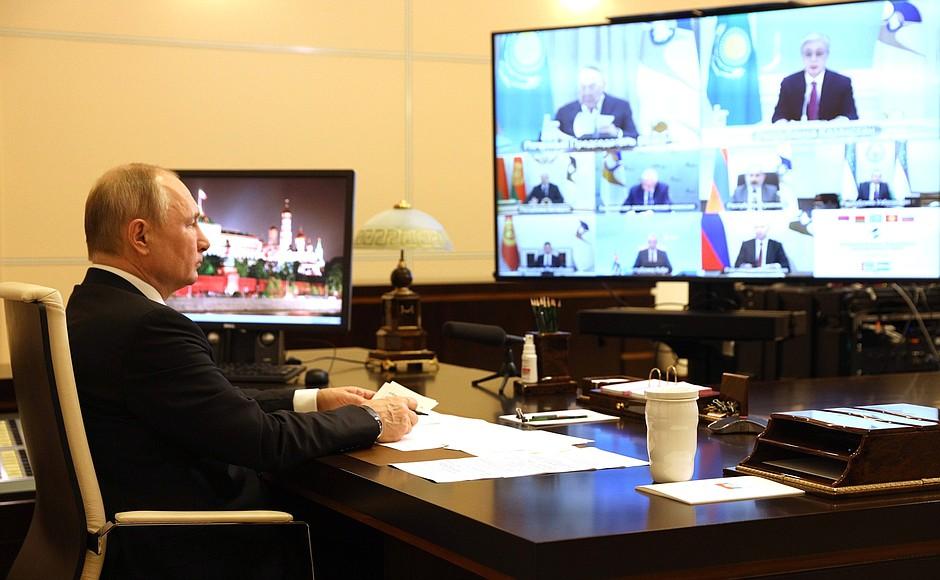 C ECO 1 XX 3 DU 21.05.2021 Réunion du Conseil économique suprême eurasien - 21 mai 2021 - 13H35