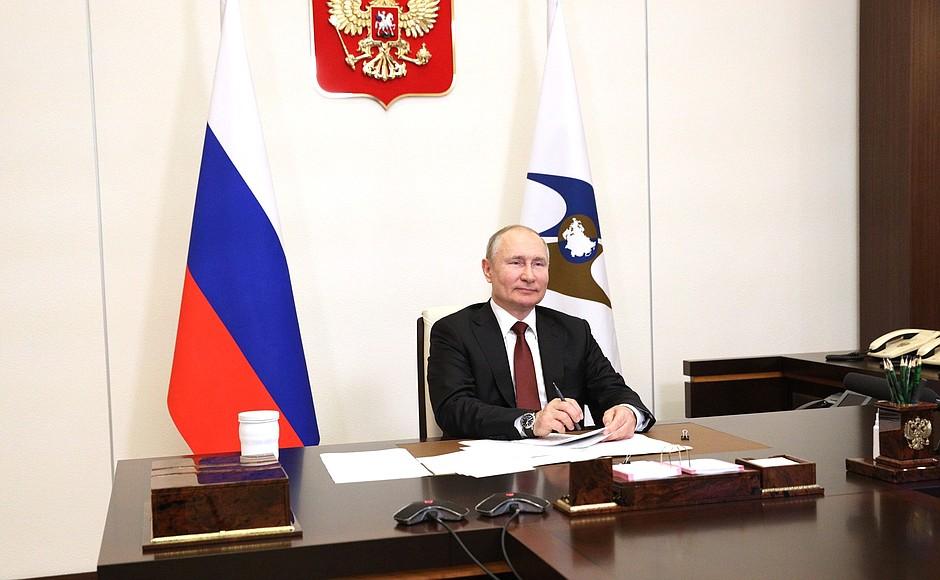C ECO 3 XX 3 DU 21.05.2021 Réunion du Conseil économique suprême eurasien - 21 mai 2021 - 13H35