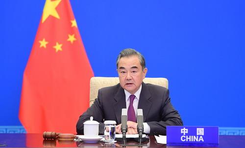 CS DU 7 MAI 21 PH 1 Wang Yi préside une conférence de haut niveau du Conseil de Sécurité des Nations Unies du 7 Mai 2021